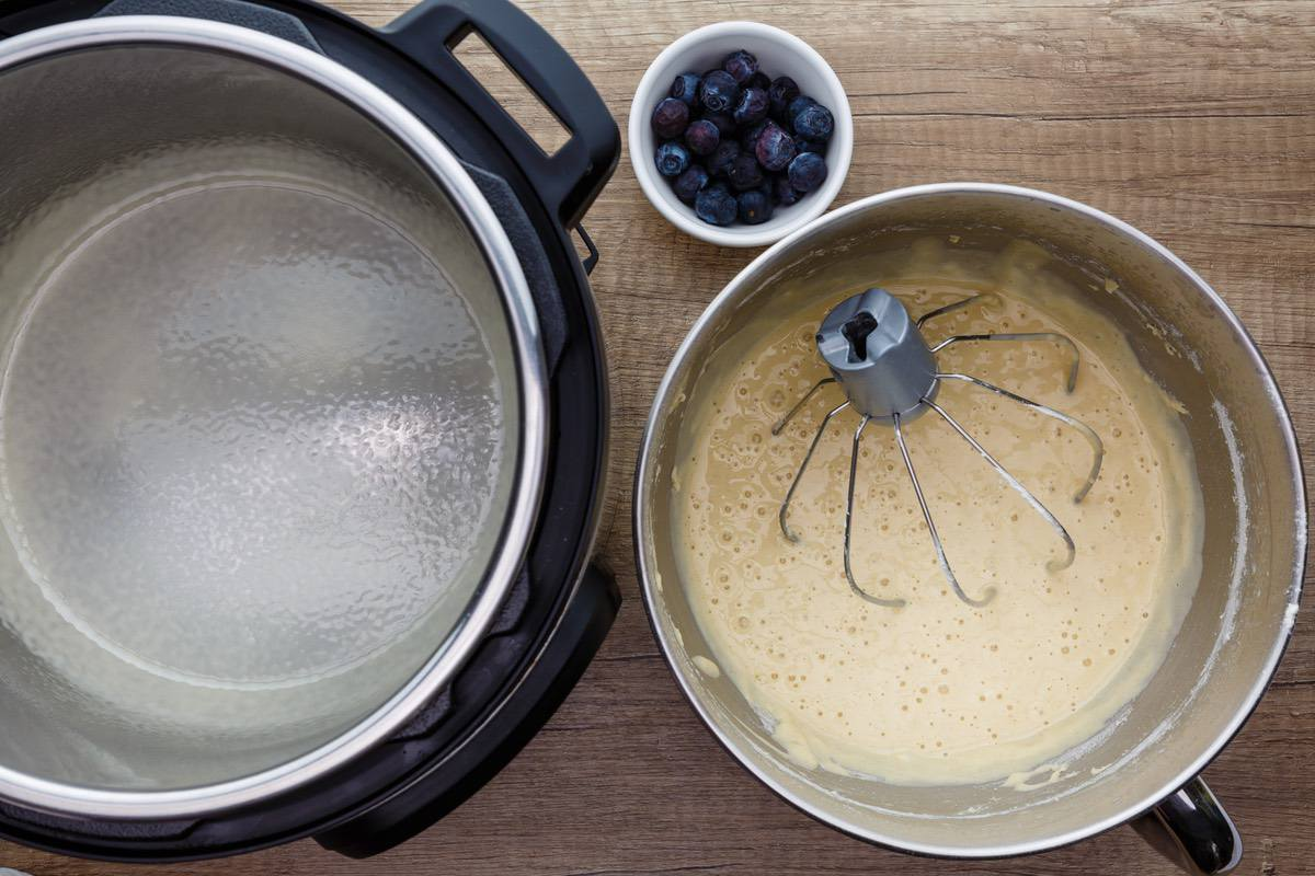 Blueberry Instant Pot Pancakes