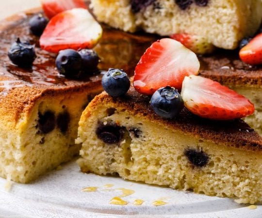 Blueberry Instant Pot Pancakes