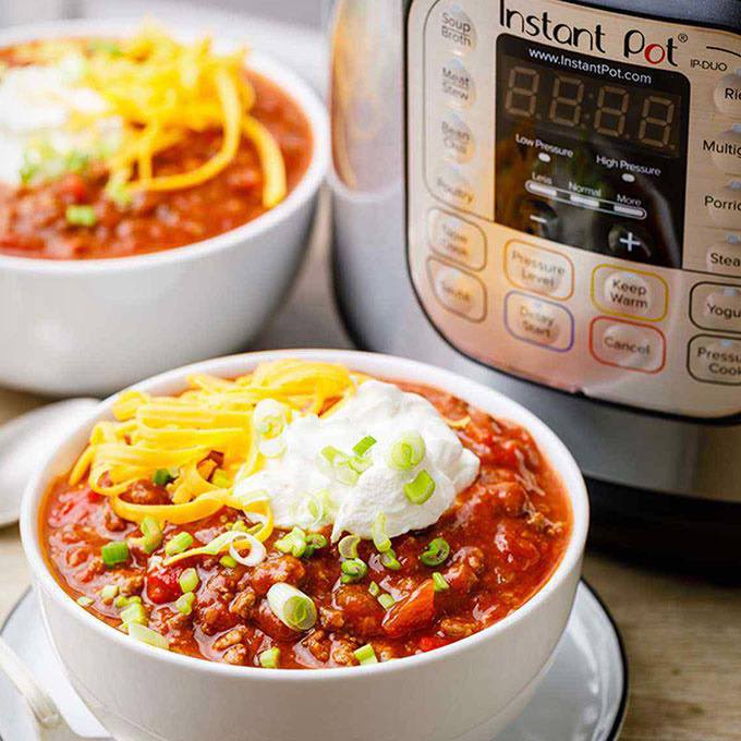 Award-Winning Instant Pot Ground Beef Chili