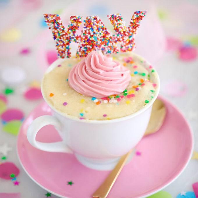 Celebration Vanilla Mug Cake