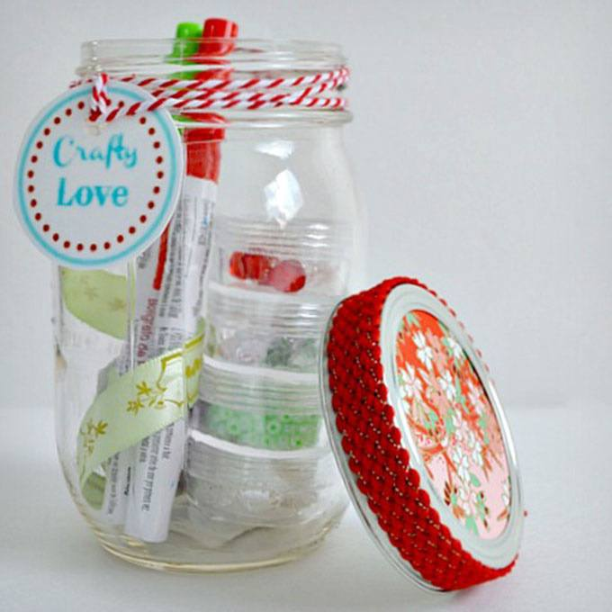 Crafty Mason Jar Gift