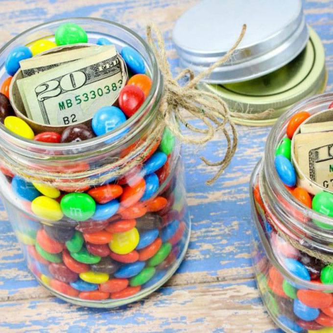 Diy Hidden Gift Jars