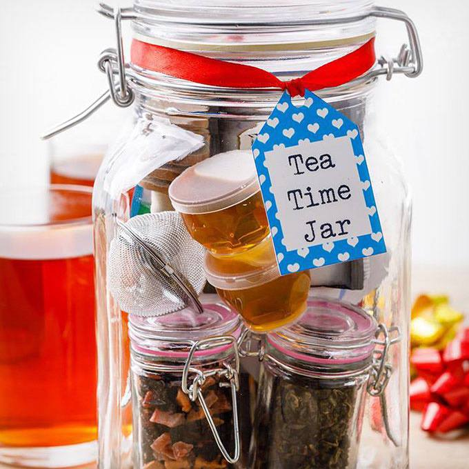Diy Tea Kit Gift Set in a Jar for Tea Lovers