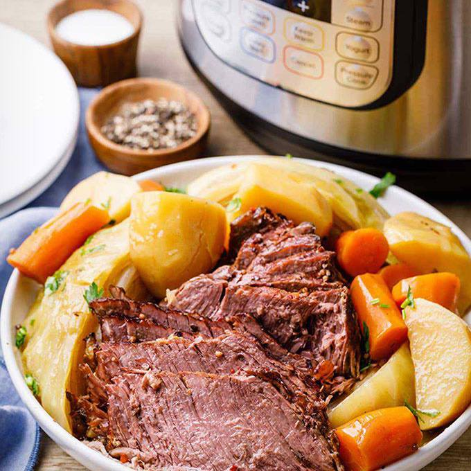 Easy Instant Pot Corned Beef and Cabbage