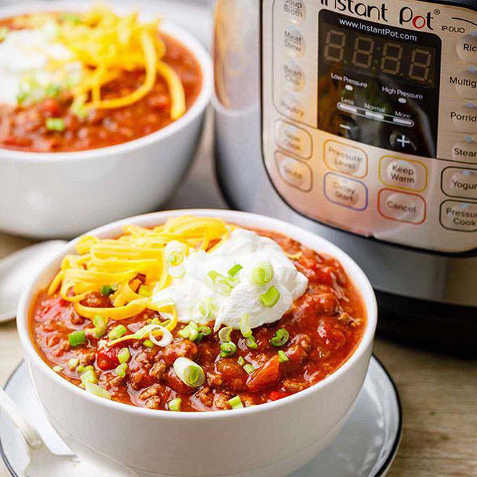 Easy No-Bean Instant Pot Chili
