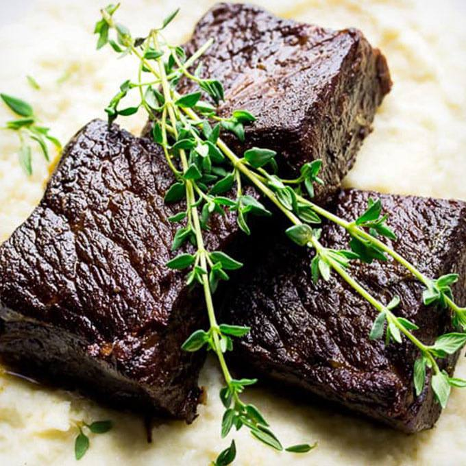 Garlic Butter Instant Pot Short Ribs