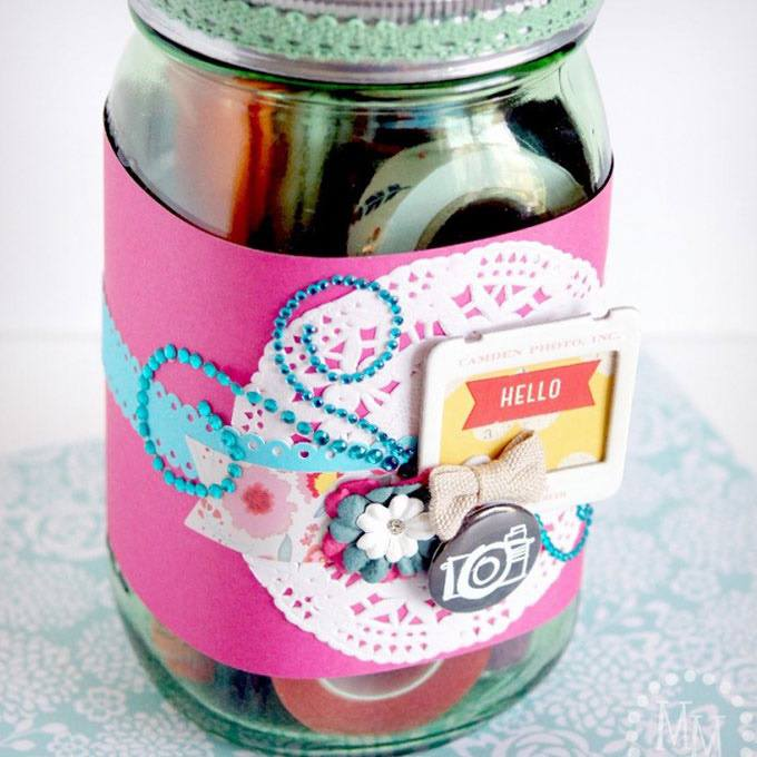 Gift in a Jar for Scrapbookers