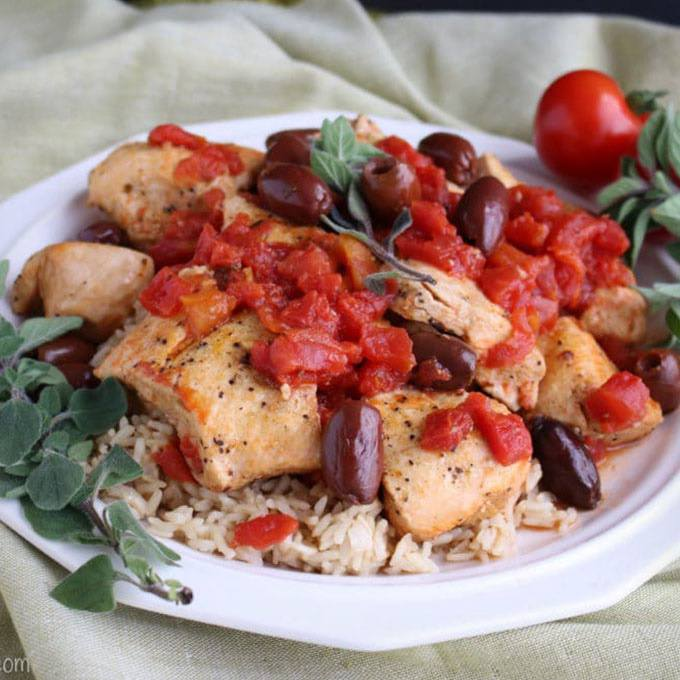 Healthy Instant Pot Mediterranean Chicken