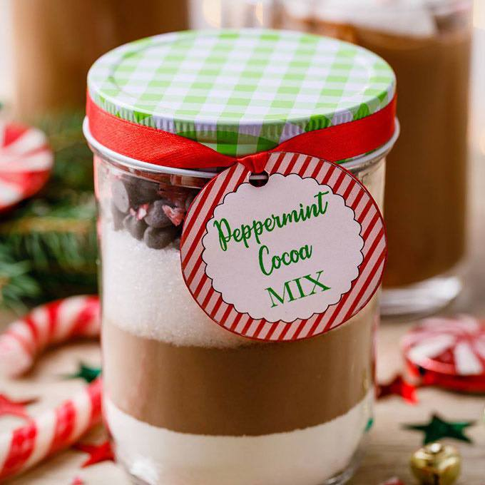 Heartwarming Peppermint Hot Cocoa Mix