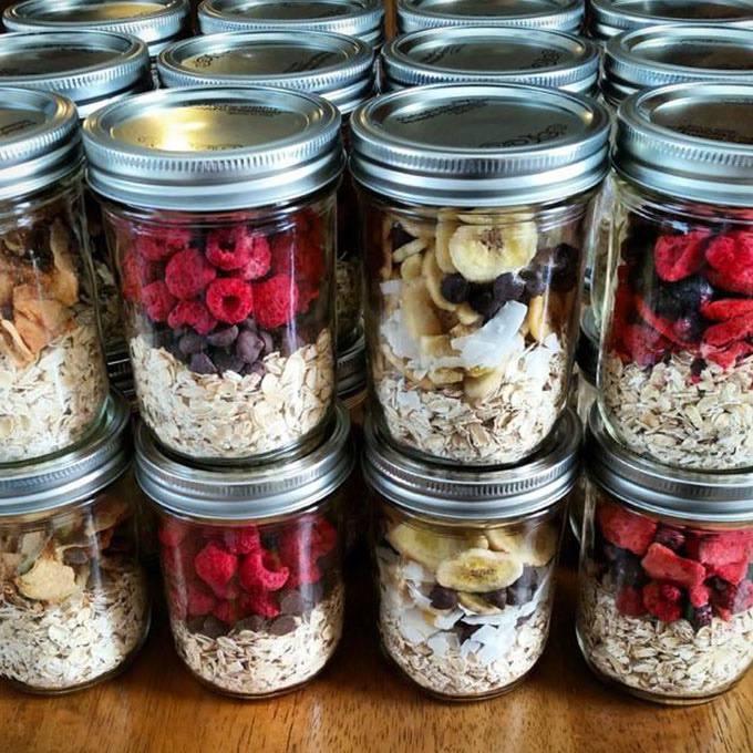 Instant Oatmeal Jars