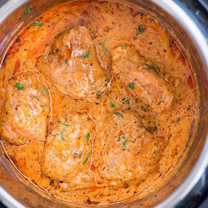 Instant Pot Chicken In Creamy Tomato Sauce