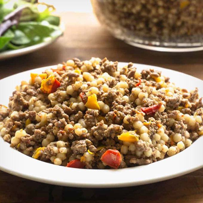 Instant Pot Couscous With Ground Beef