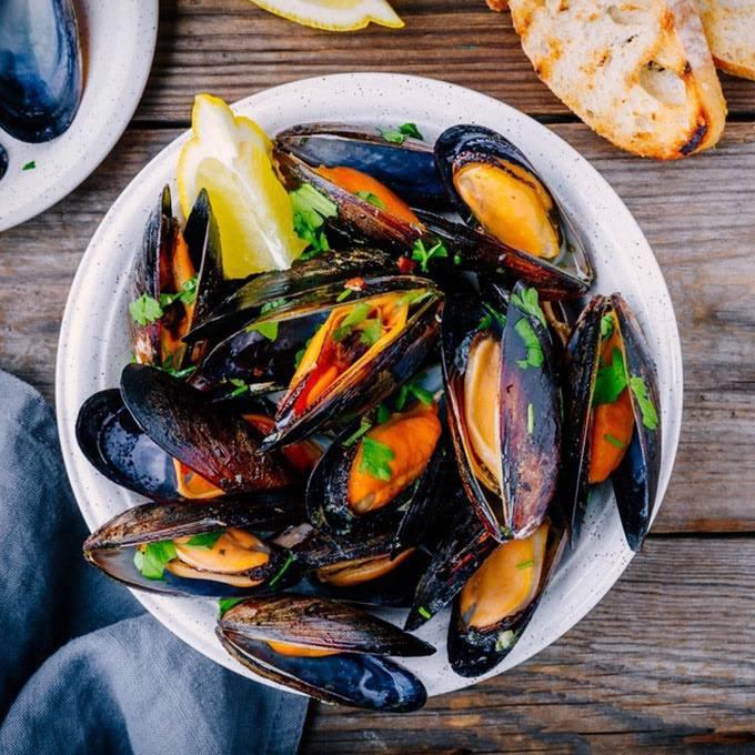 Instant Pot Dinner Mussels