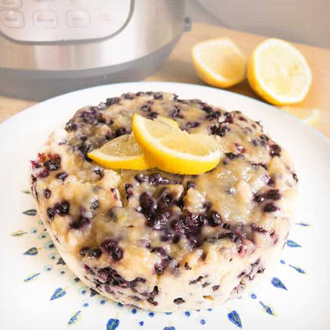 Instant Pot Lemon Blueberry Breakfast Cake