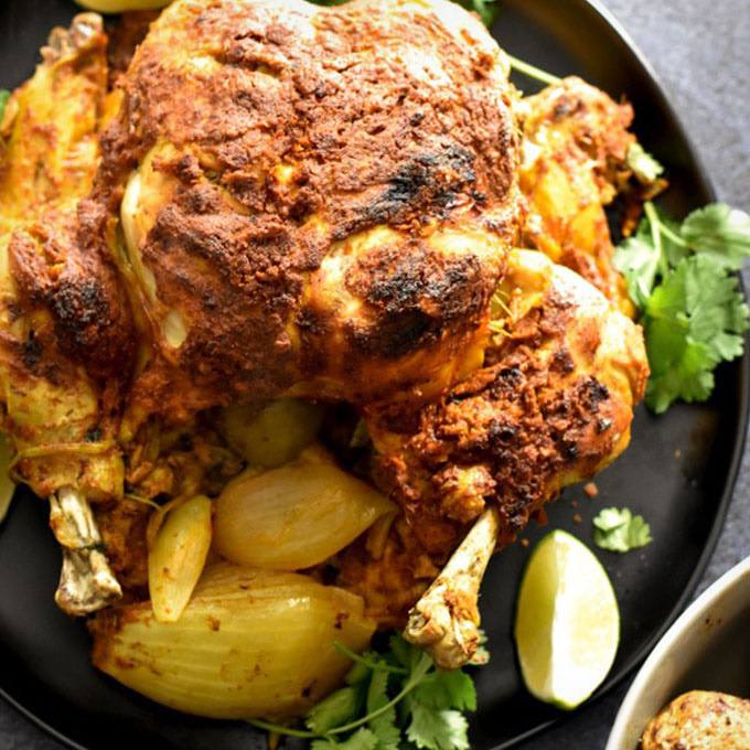 Instant Pot Tandoori Whole Chicken