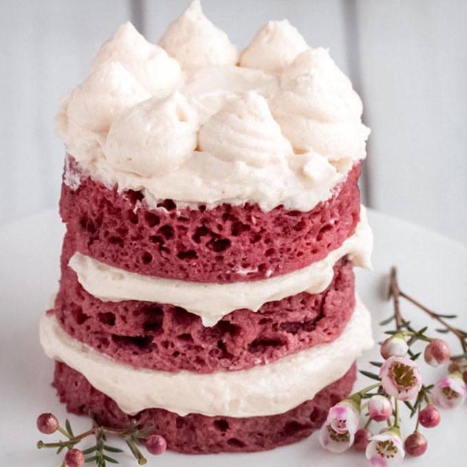 Keto Red Velvet Mug Cake