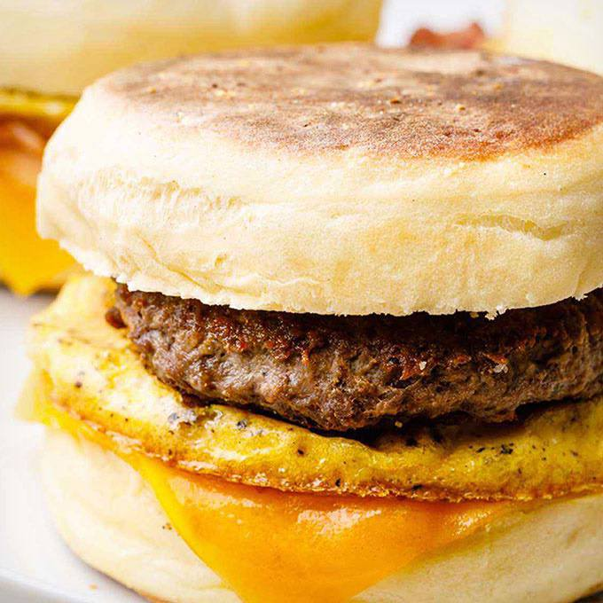 Make-Ahead Sausage and Egg Breakfast Sandwiches