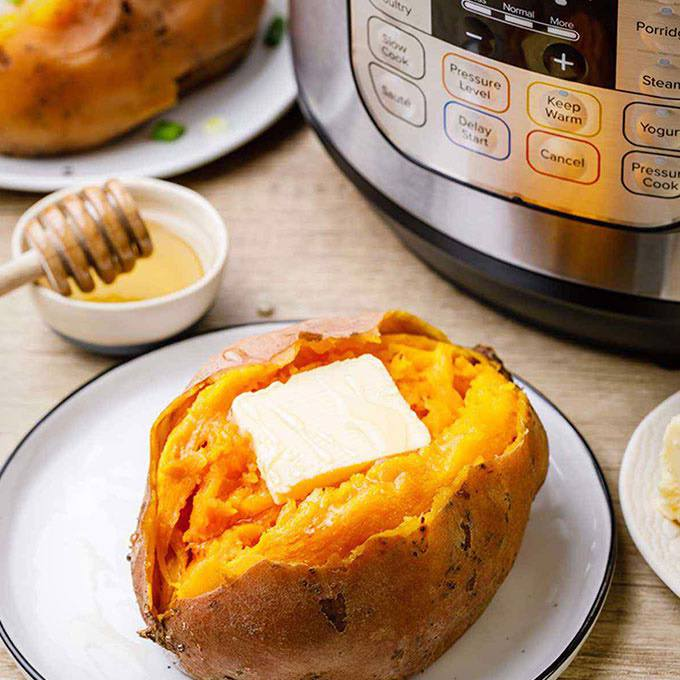 Perfectly Cooked Instant Pot Sweet Potatoes
