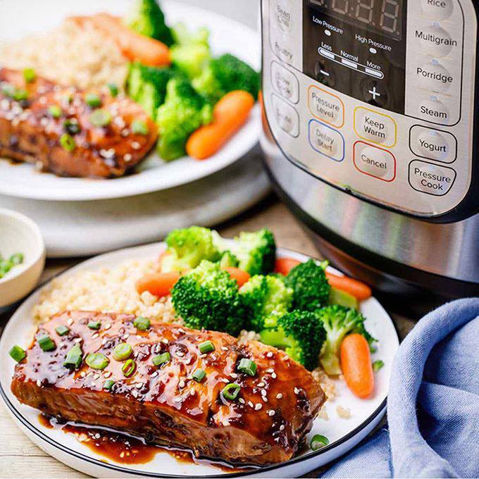 Perfectly Cooked Instant Pot Teriyaki Salmon