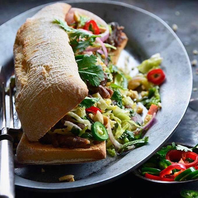 Short Rib Banh Mi Sandwich