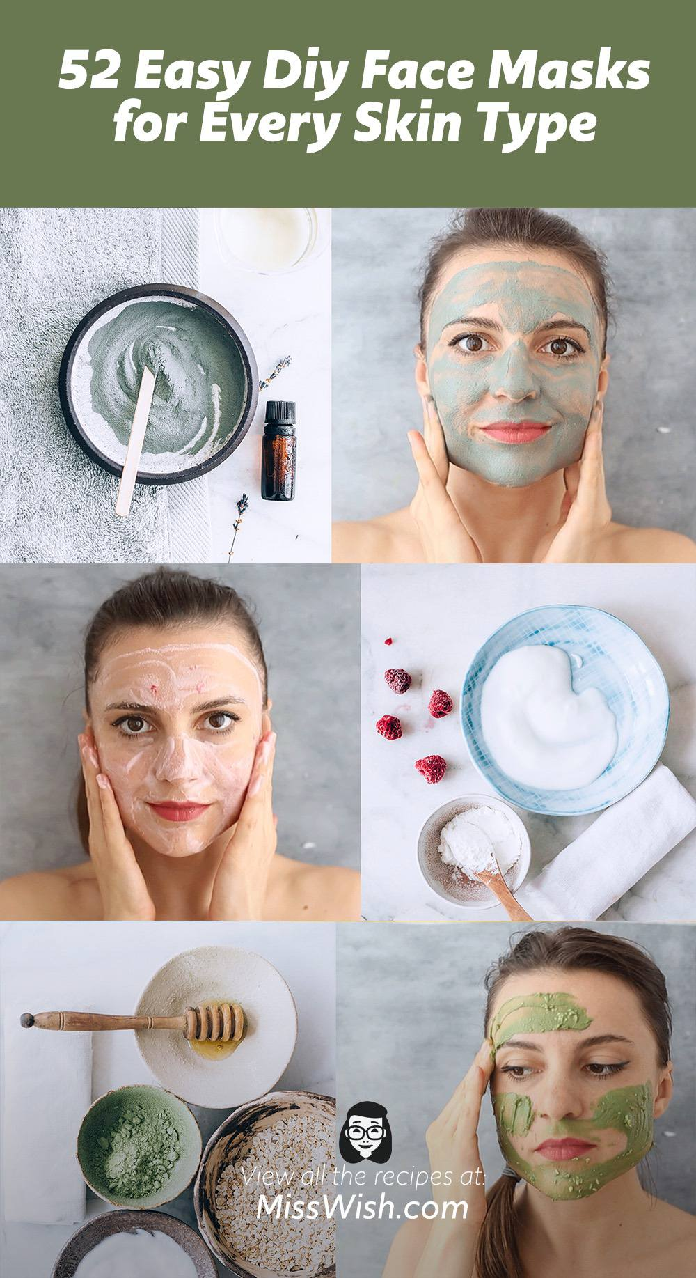 52 Easy Diy Face Masks for Every Skin Type
