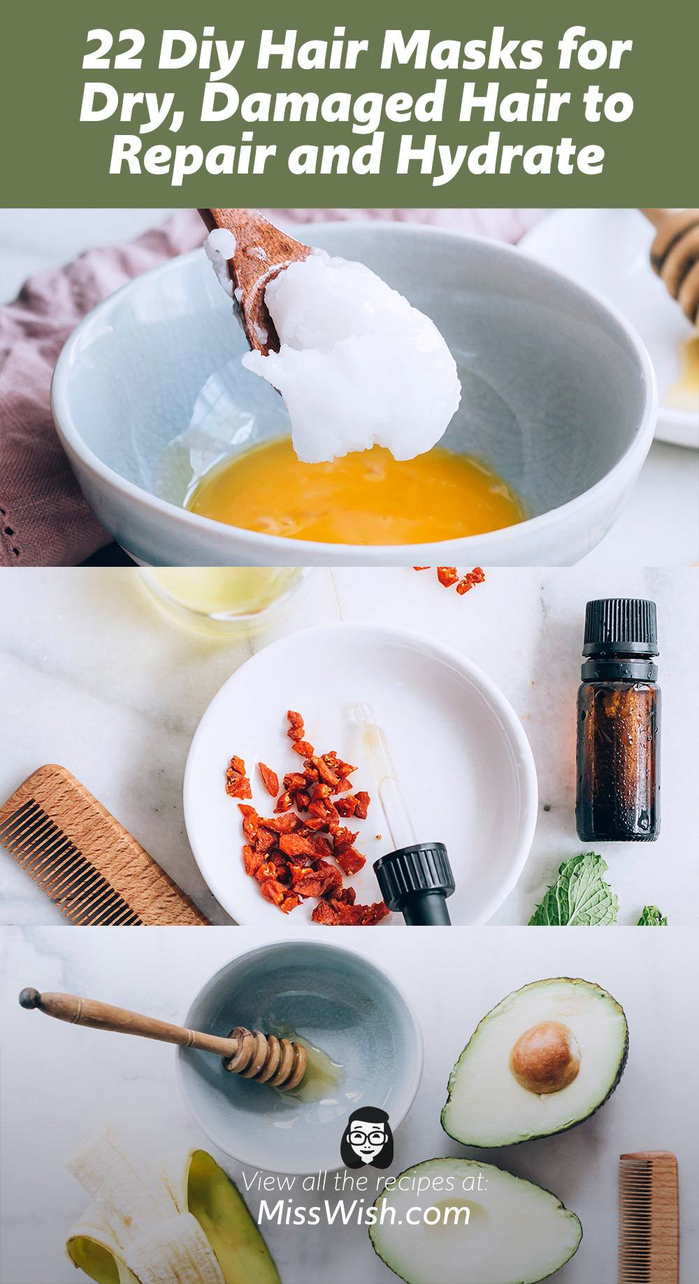 22 Diy Hair Masks for Dry, Damaged Hair to Repair and Hydrate
