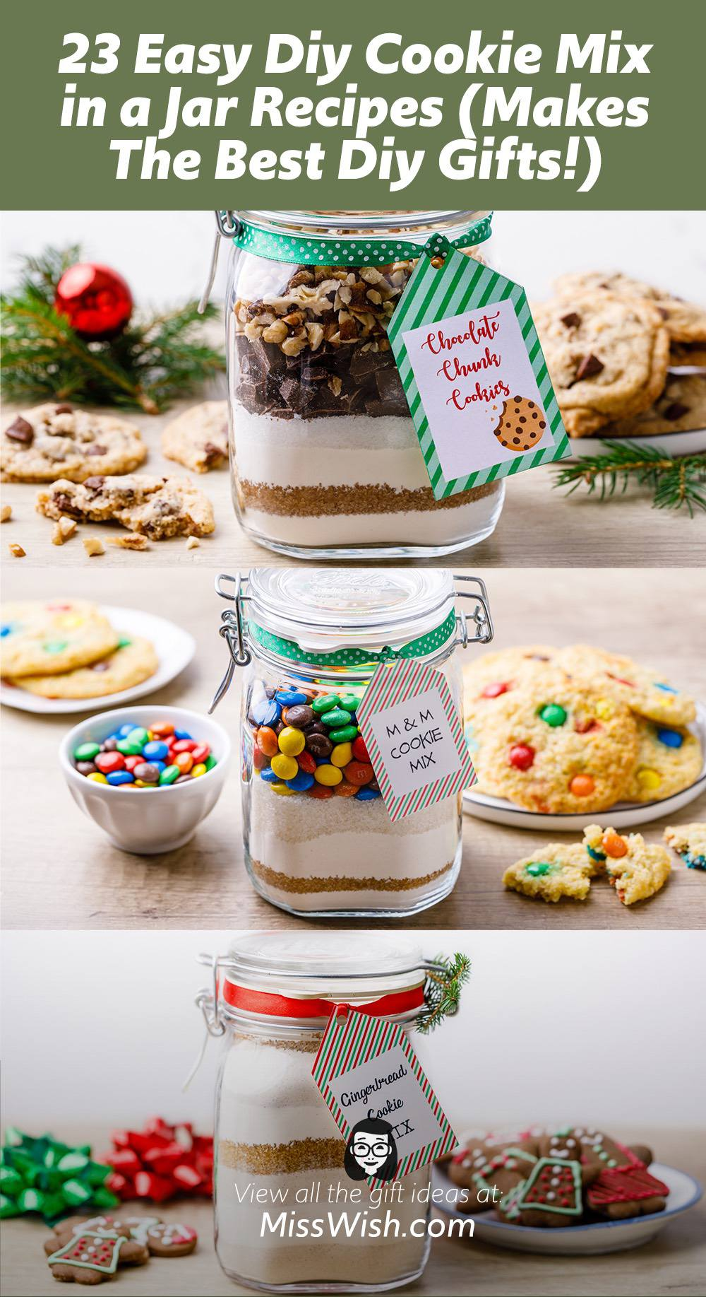 23 Easy Diy Cookie Mix in a Jar Recipes