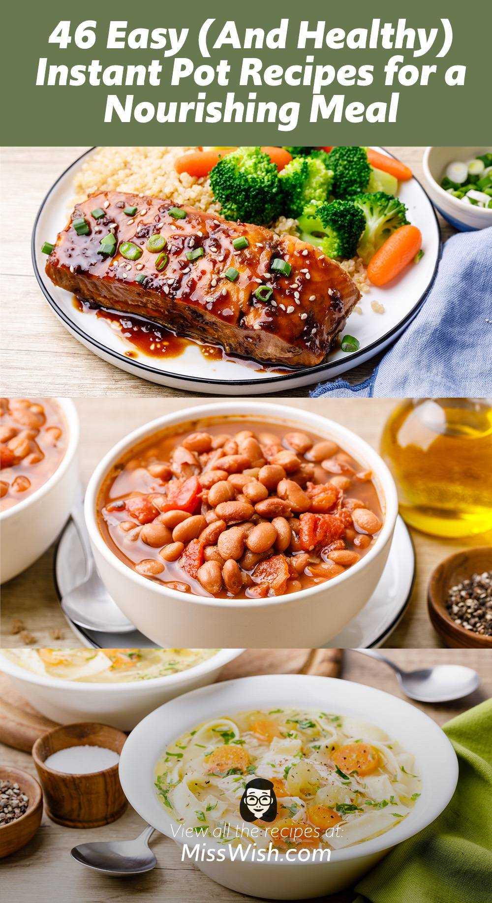 46 Easy and Healthy Instant Pot Recipes for a Nourishing Meal
