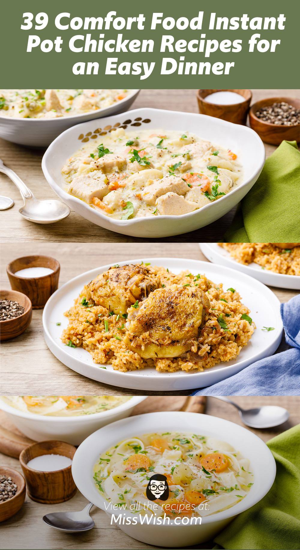 39 Comfort Food Instant Pot Chicken Recipes for an Easy Dinner