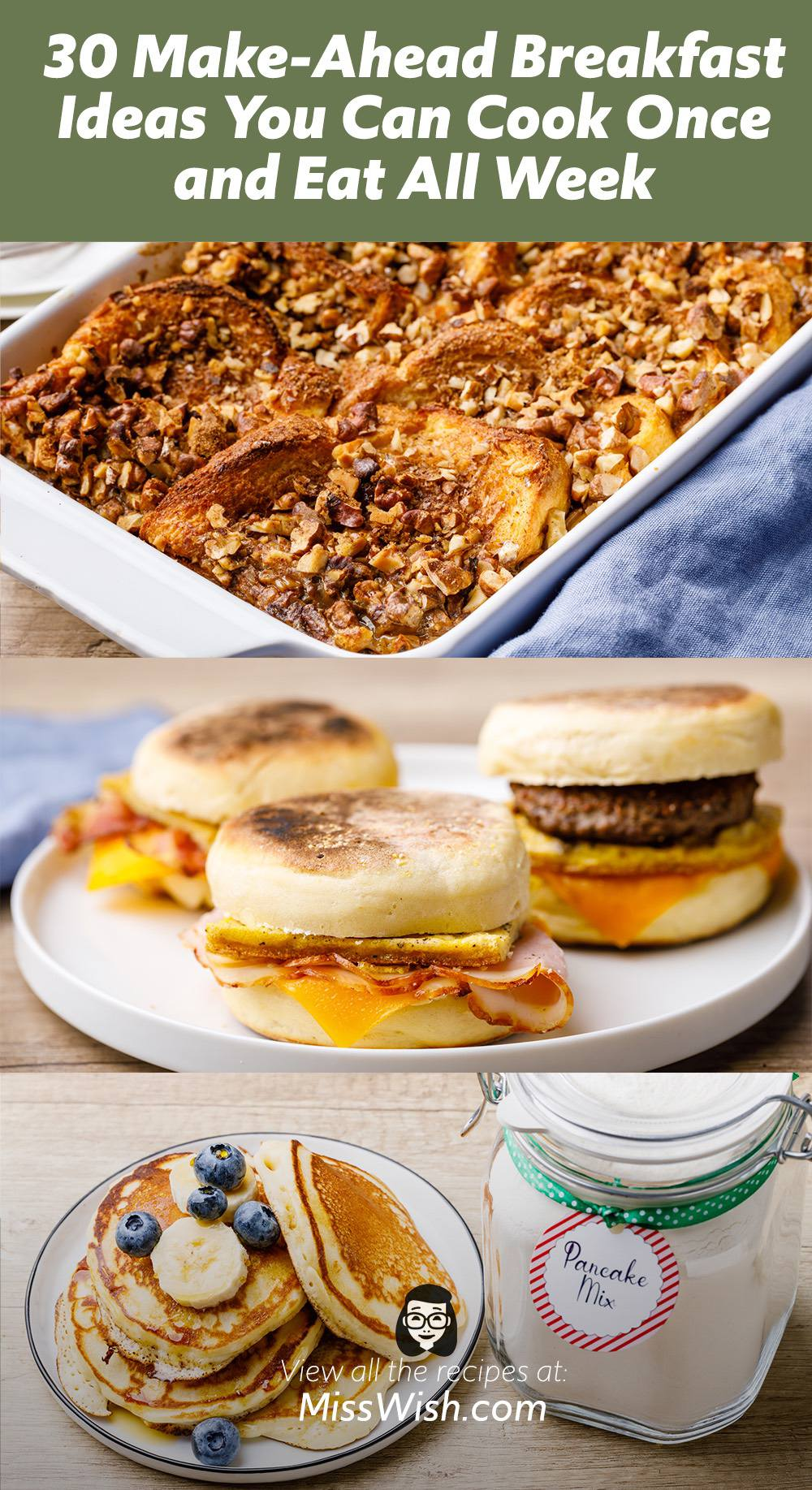 30 Make-Ahead Breakfast Ideas You Can Cook Once and Eat All Week