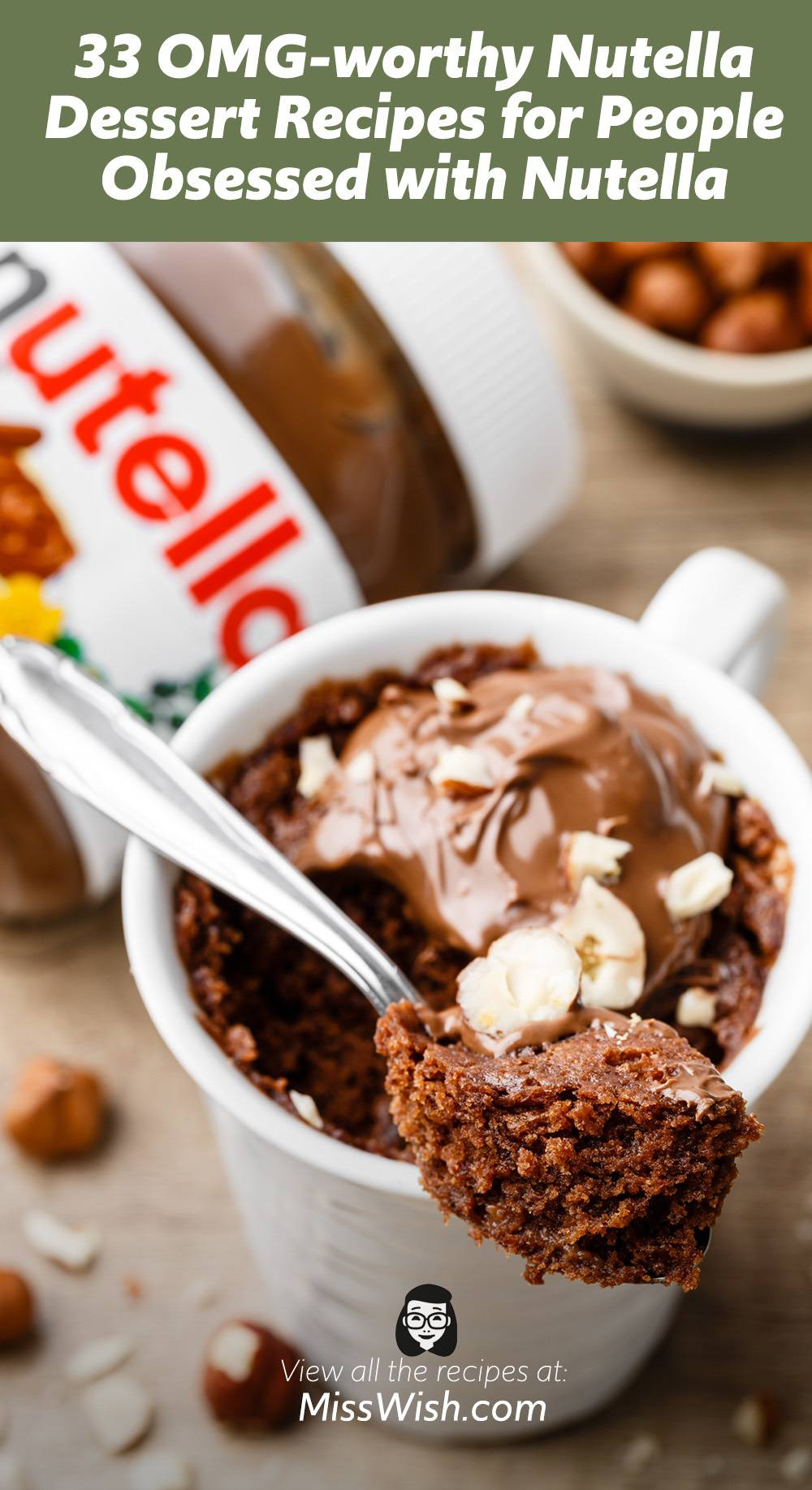 33 OMG-worthy Nutella Dessert Recipes for People Obsessed with Nutella