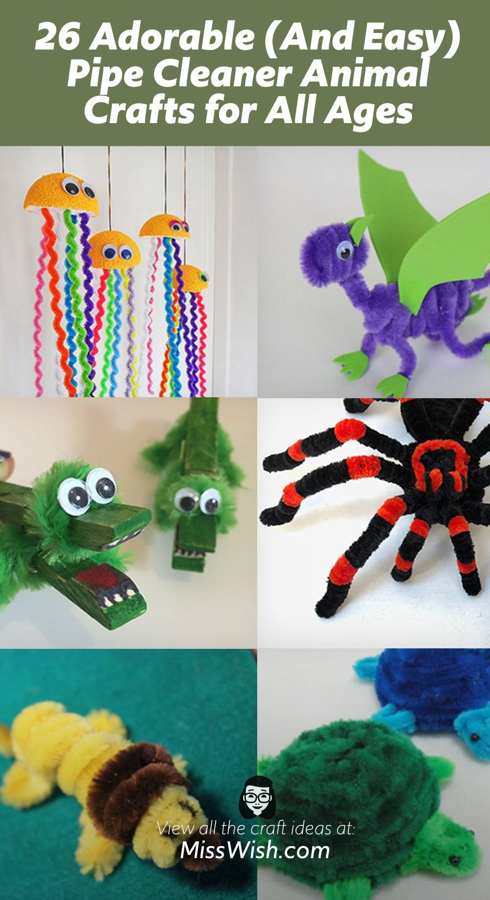 26 Adorable and Easy Pipe Cleaner Animal Crafts for All Ages