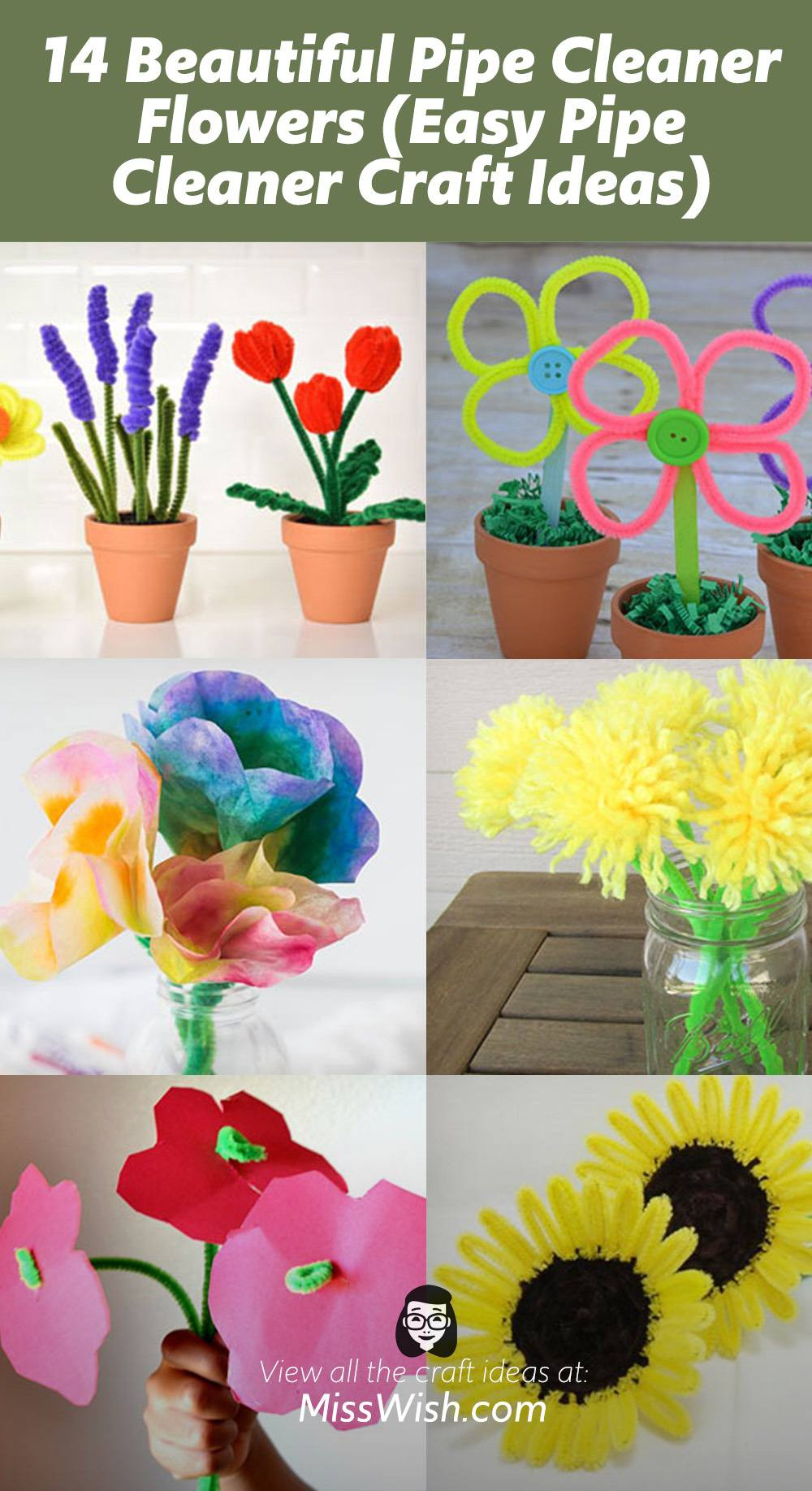 14 Beautiful Pipe Cleaner Flowers