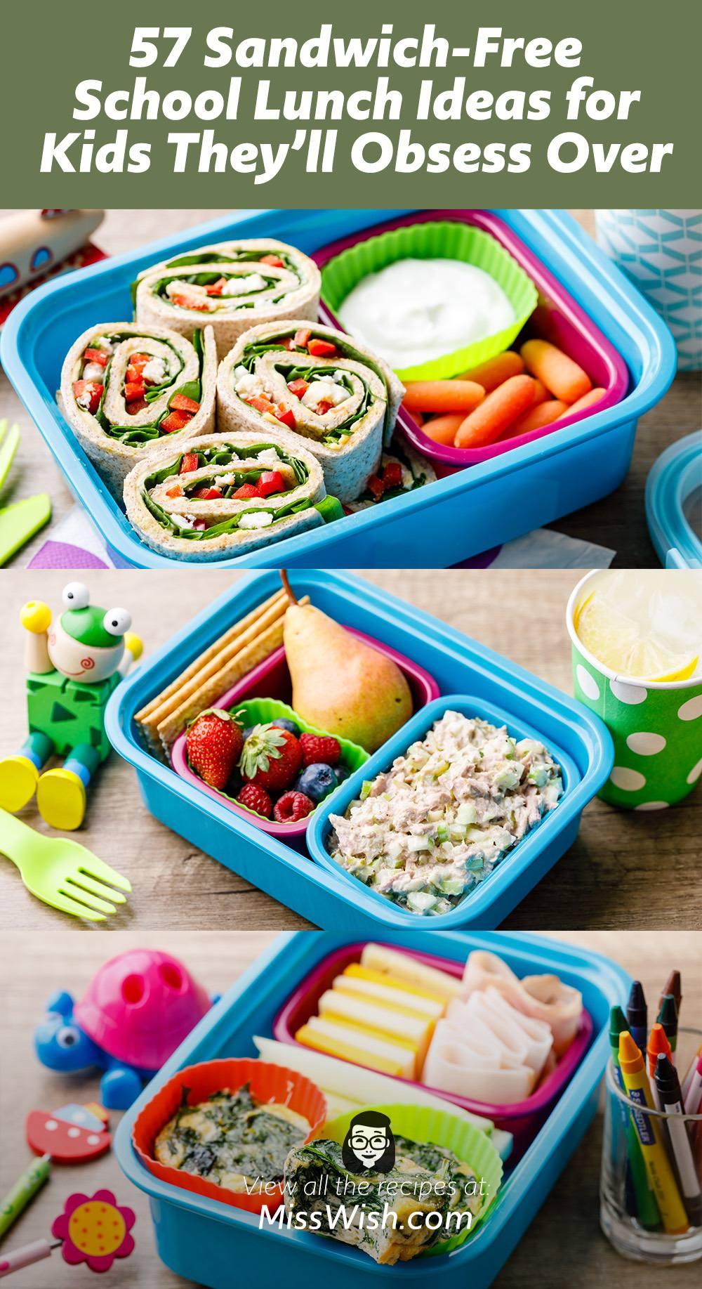 57 Sandwich-Free School Lunch Ideas for Kids They Will Obsess Over