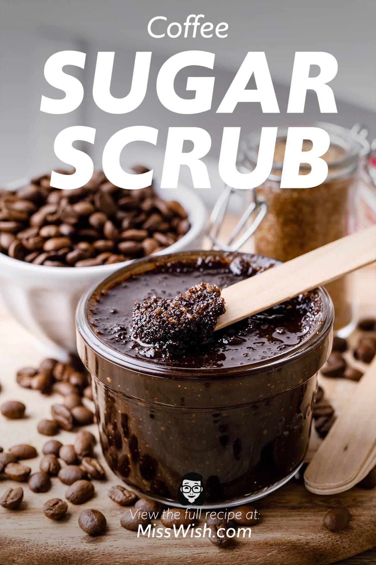 4-Ingredient Coffee and Sugar Face Scrub