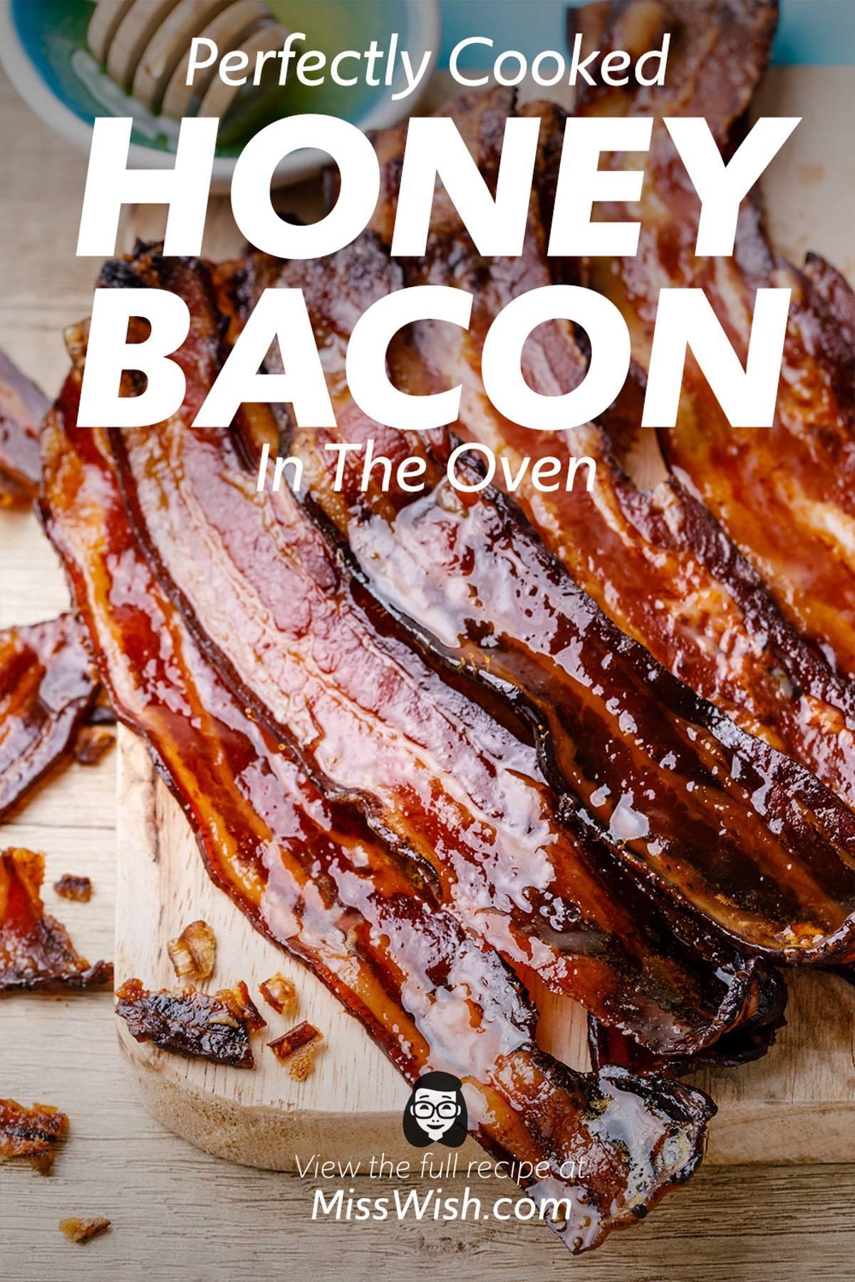 2-Ingredient Honey Bacon in the Oven