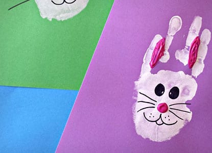 Bunny Rabbit Handprint Craft