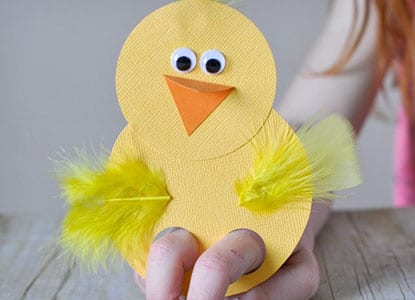 Chick Finger Puppets