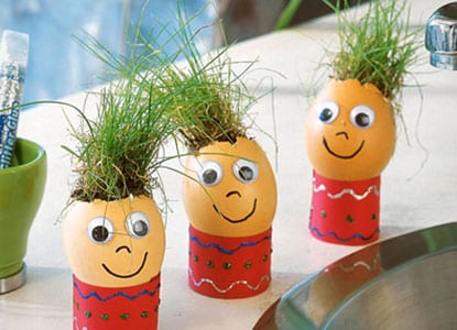 Easter Grass Egghead Craft