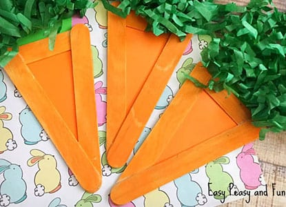 Popsicle Stick Carrots