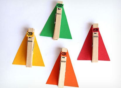 Superhero Counting Clothespin Craft