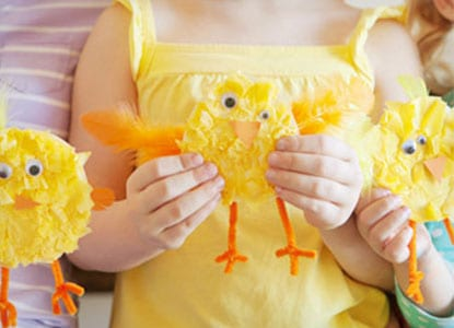 Tissue Paper Baby Chicks