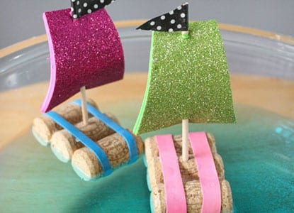 Wine Cork Sail Boats