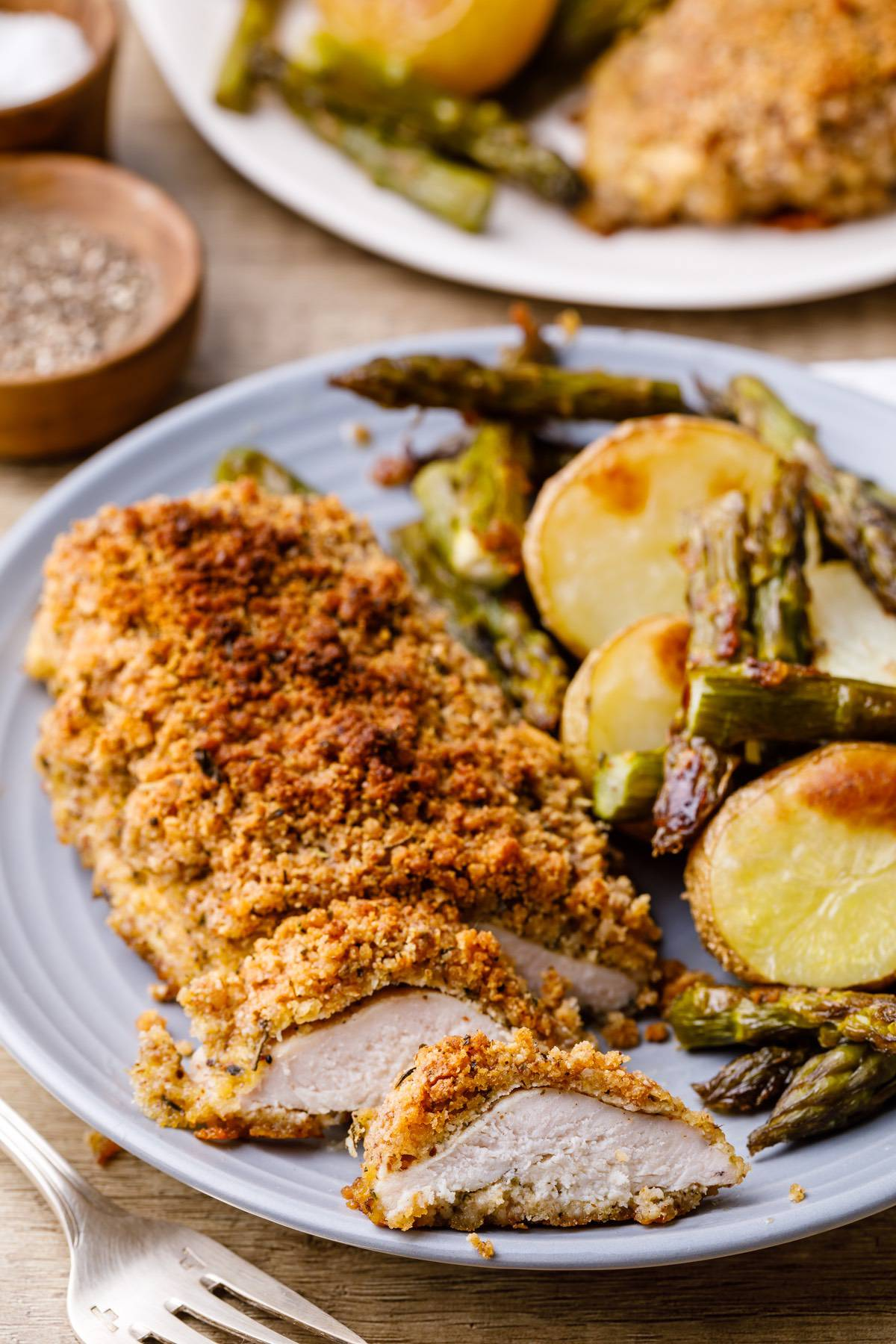 Baked Sheet Pan Chicken And Asparagus Recipe