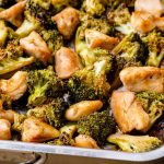 Baked Sheet Pan Chicken And Broccoli Recipe