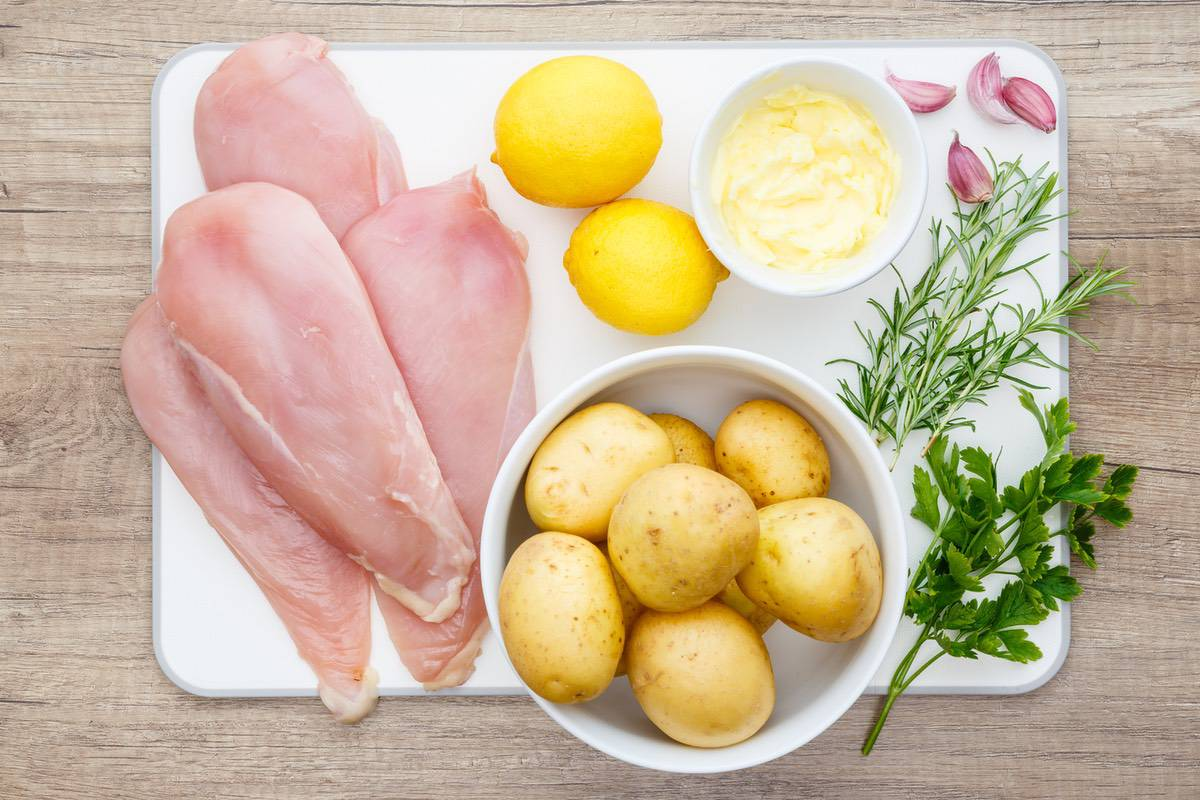 Baked Sheet Pan Lemon Chicken Recipe