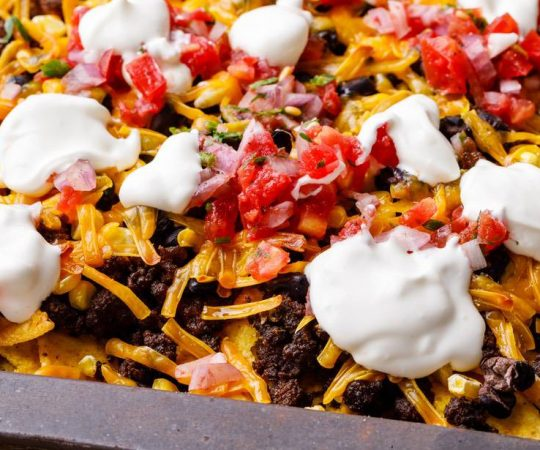 Baked Sheet Pan Nachos Recipe