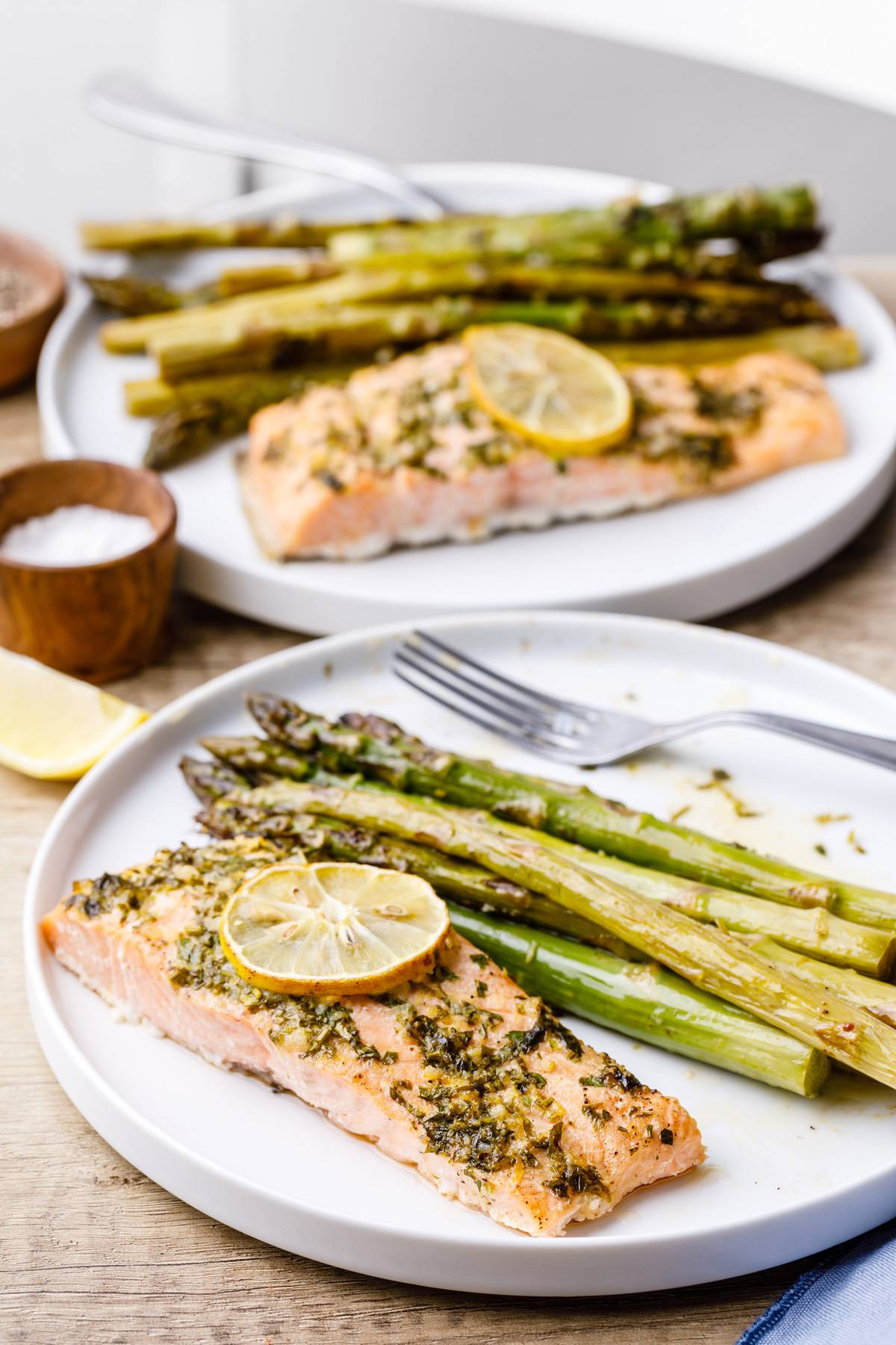 Baked Sheet Pan Salmon And Asparagus Recipe