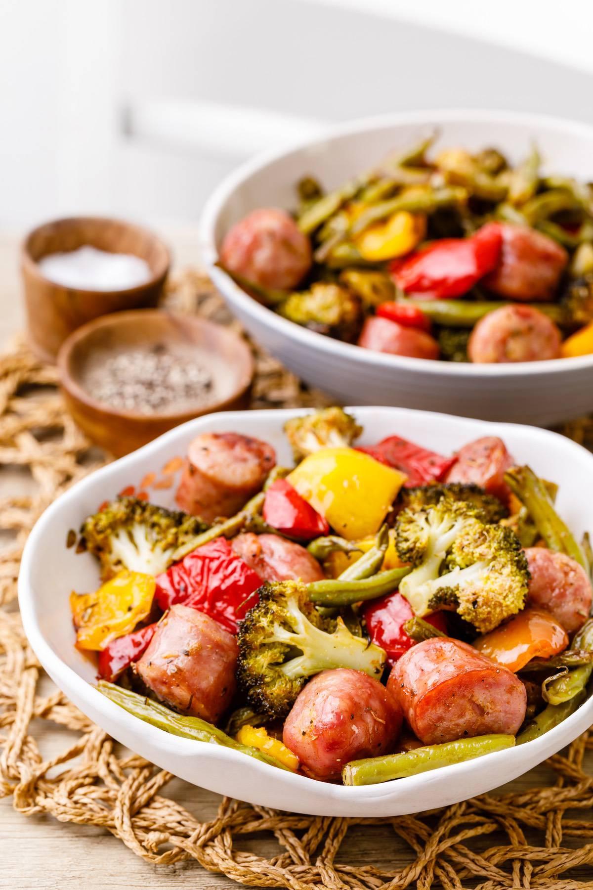 Baked Sheet Pan Sausage And Vegetables Recipe