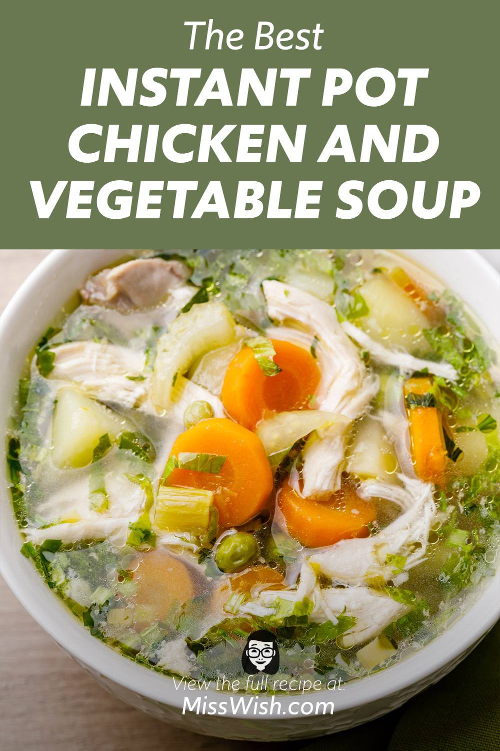 Homemade Instant Pot Chicken and Vegetable Soup